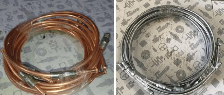 какие тормозные трубки лучше медные или стальные